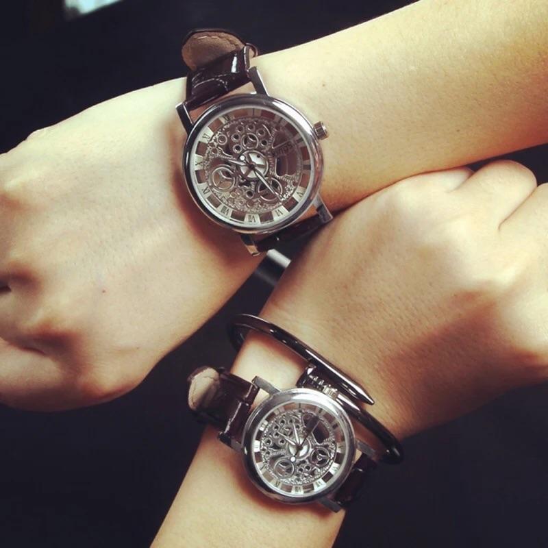 Kings 韓國東大門Ulzzang 學院風 街頭風仿機械錶面板石英手錶女錶男錶中性錶