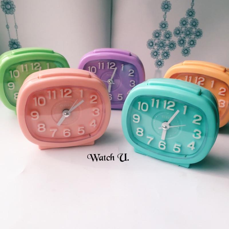 製立體數字馬卡龍糖果色鬧鐘時鐘