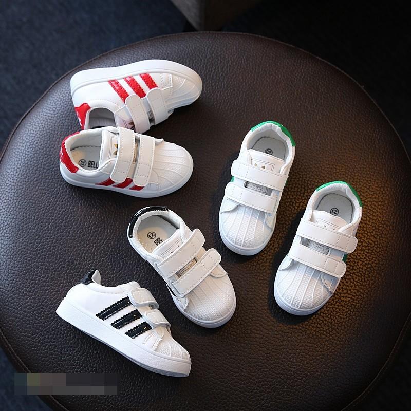 超人媽咪男童女童大童小童童鞋貝殼鞋 鞋平底鞋休閒鞋三條槓UD15