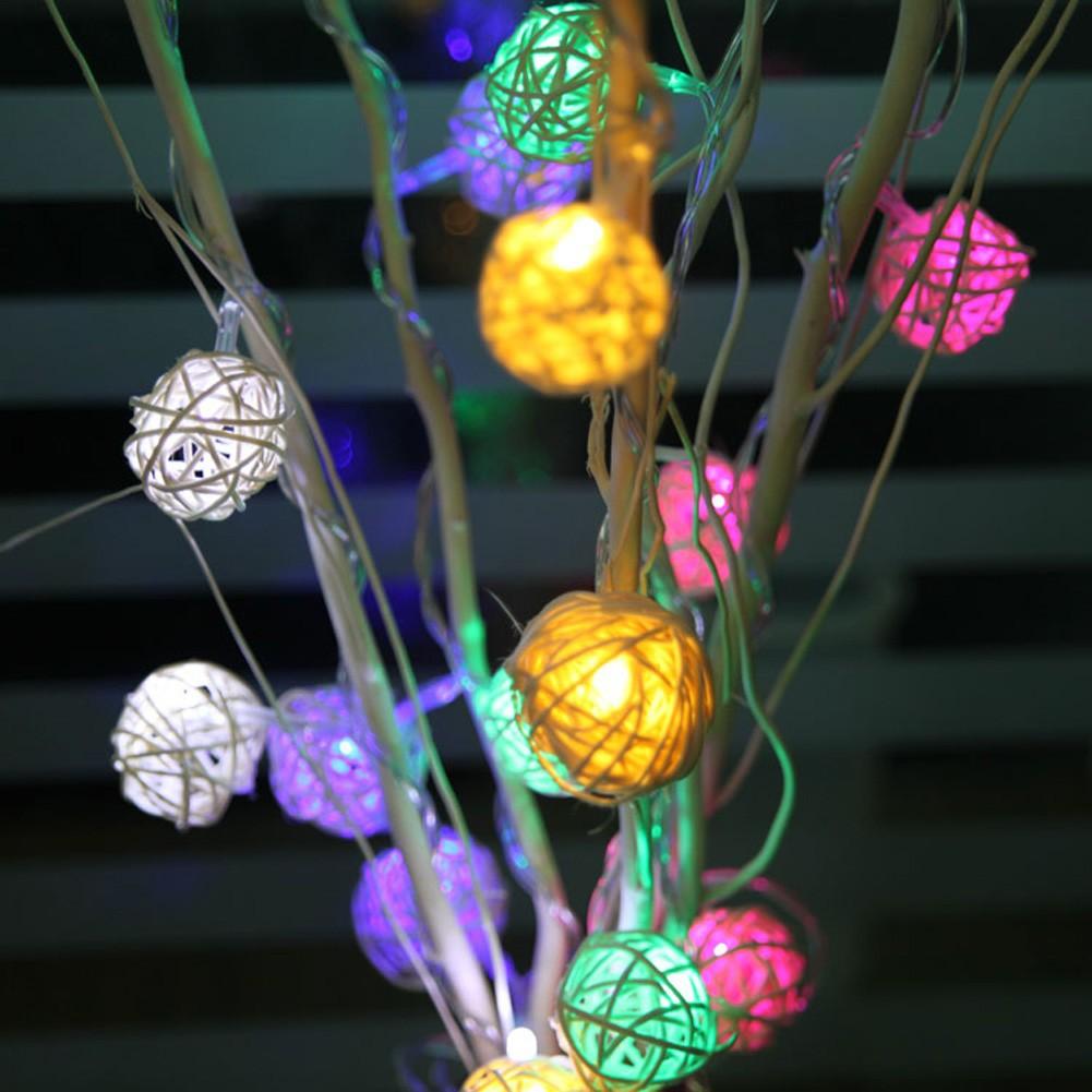 燈具小夜燈9M 戶外太陽能LED 藤球燈串 花園裝飾燈節日庭院燈景觀燈