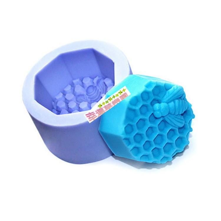 幸運草樂園蜜蜂蜂巢蜂蜜皂模具超立體蛋糕模 皂模巧克力模蠟燭模食品級環保矽膠模