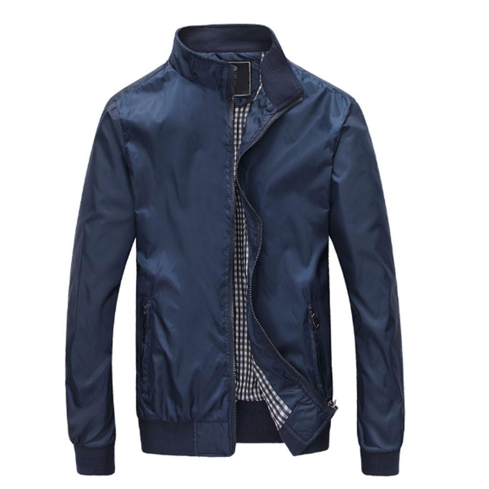 男式夾克休閒修身薄秋裝 外套