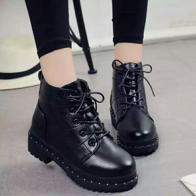 馬丁靴短靴英倫風平底2016  復古短筒厚底靴子