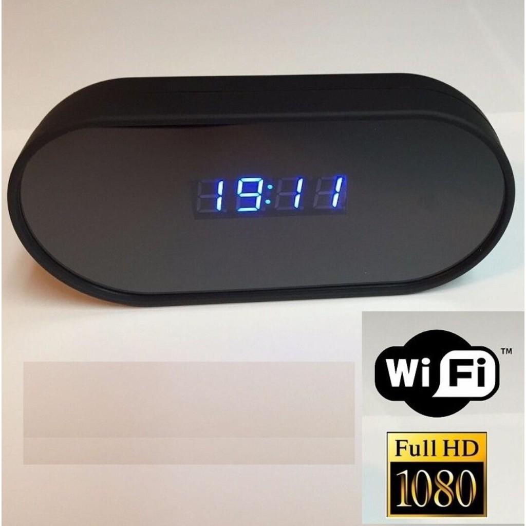 1080P 高清WiFi IP 迷你針孔隱藏相機報警表時鐘 檢測DVR P2P 夜視針孔攝