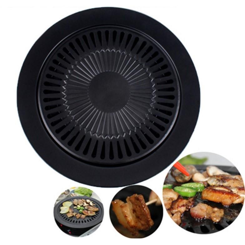 韓式燒烤盤不粘烤盤戶外旅遊外出烤肉用具圓形烤具卡式瓦斯爐