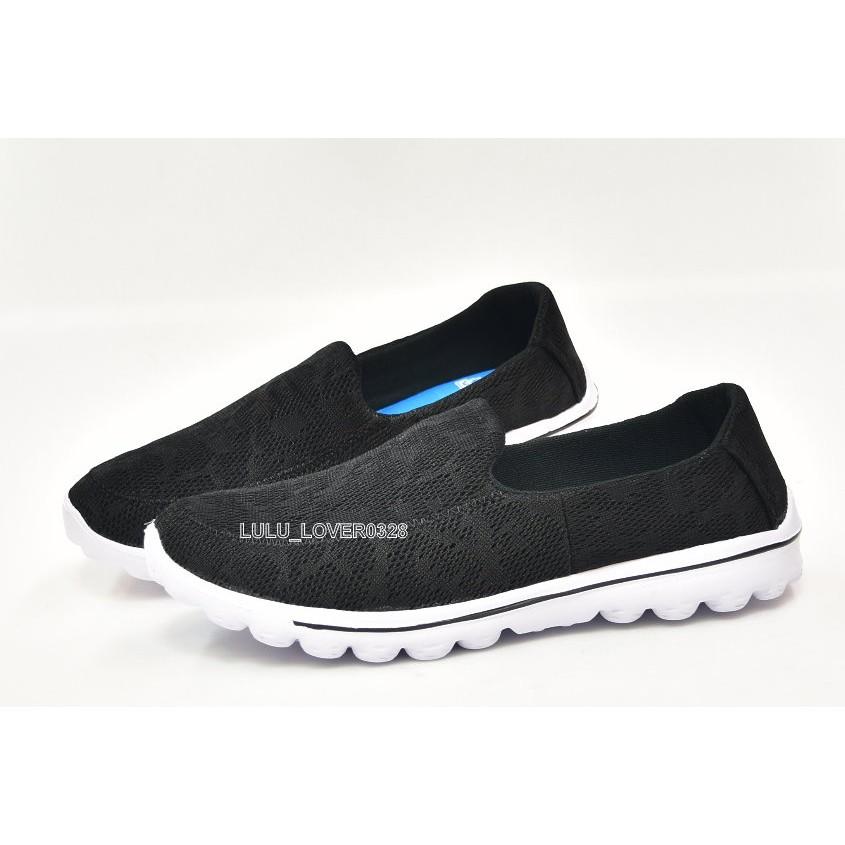 百分百SHOES 男款回彈記憶鞋墊輕量透氣健走鞋 鞋 網狀鳥巢鞋 比SNXIL 一半黑色少