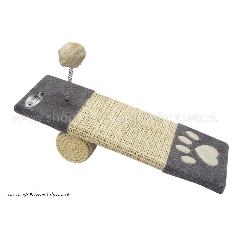 ○~╮樂比特╭~○寵物甜心PetSweet 毛球撞台滑梯磨爪板PW120 斜坡貓抓板貓爬架
