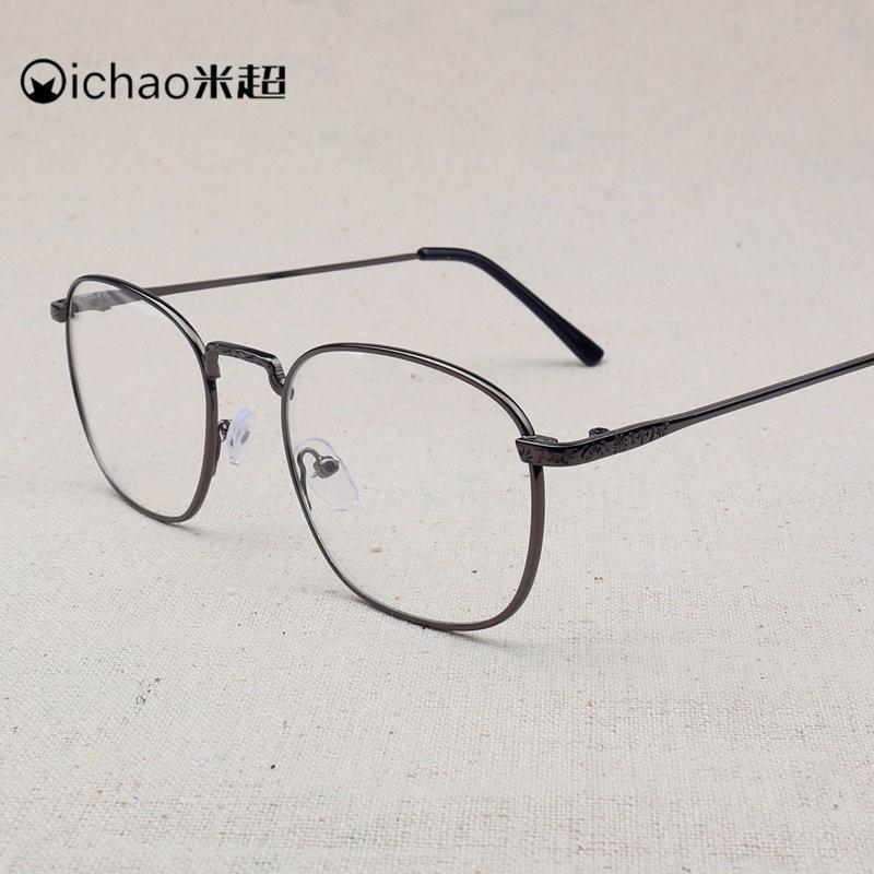 復古金屬框眼鏡韓式方框可配近視男女同款文藝平光鏡