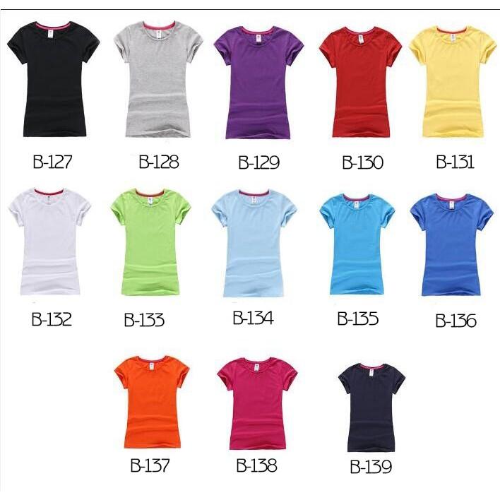 萊卡彈力棉純色T 恤女款短袖空白T 恤圓領女裝修身T 恤 純色T 恤女款純色T 恤女款純色