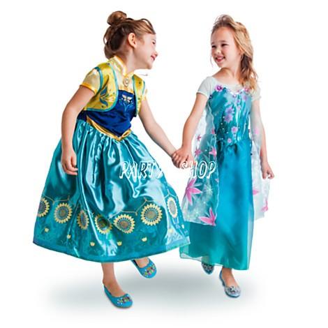 ELS07 ~派對樂~萬聖節服裝冰雪奇緣2 電影 洋裝愛紗女王艾莎_ 愛沙公主裝