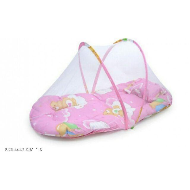品微瑕疵賠本 嬰兒蚊帳罩寶寶蚊帳嬰兒床蚊帳罩免 蒙古包可折疊兒童床帶枕墊