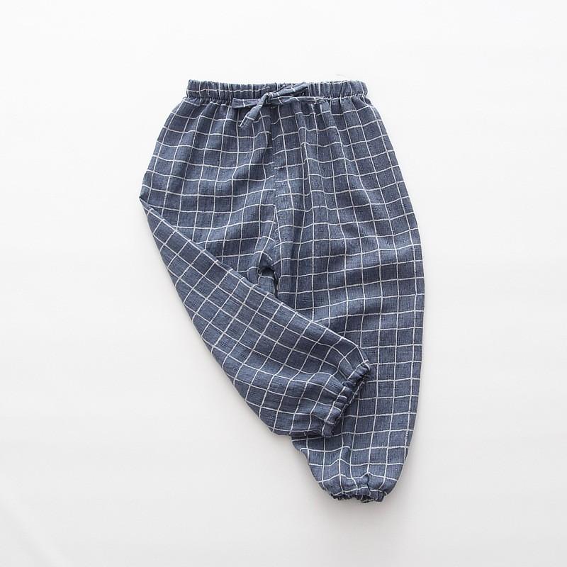 春夏男童格子防蚊褲燈籠褲