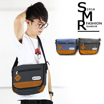 包包帆布郵差包簡約 款~79189 G045 ~黑色藍色共2 色~ ~~SMR ~