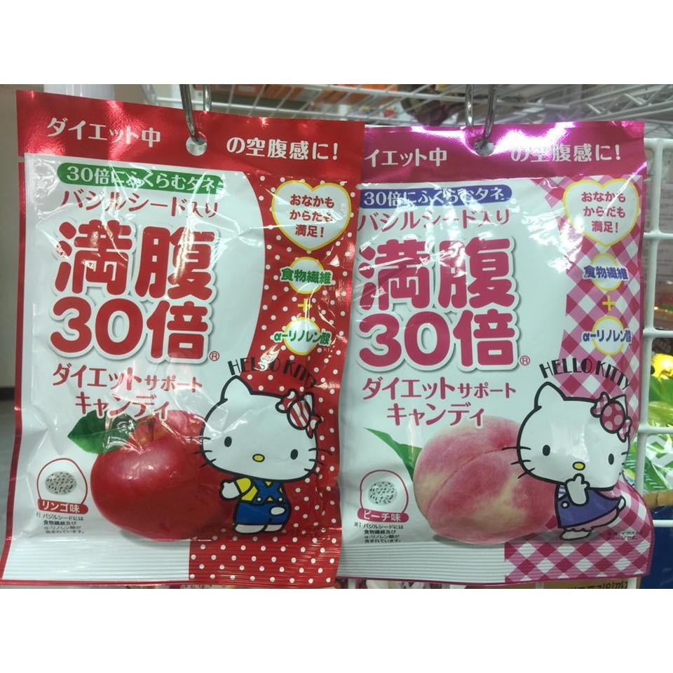 製HELLO KITTY 30 倍滿腹感水果糖42g