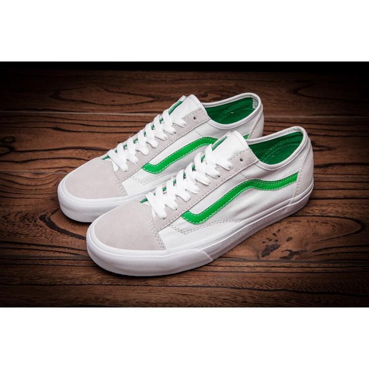 日貨 VANS Old Skool 綠白麂皮街頭 低筒GD 權志龍羅志祥賈斯汀懶人鞋包鞋滑