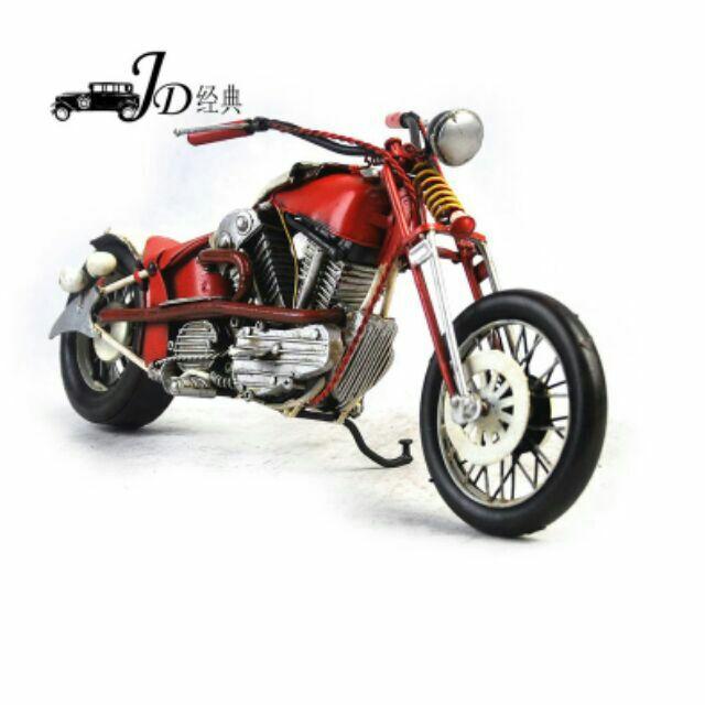 1948 哈雷模型車冷軋鋼板摩托車重機哈雷越野車辦公室客廳臥室聖誕 Uncle Way 威