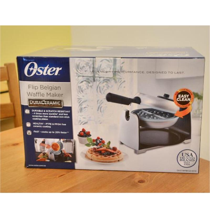 Oster 鬆餅機–不鏽鋼可翻轉陶瓷塗層防沾黏 厚片鬆餅機