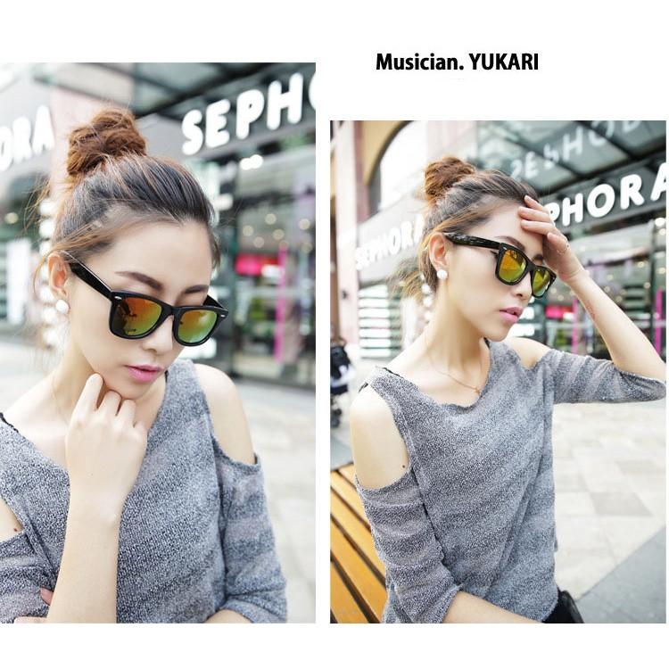 日韓 館韓風男女款反光太陽眼鏡韓國 復古 墨鏡潮女眼鏡日系潮流彩膜反光鏡面墨鏡騎車開車防紫