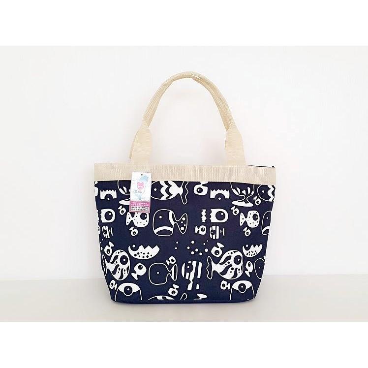 悠格~YOGSBEAR ~ M 環保防水手提袋手提包 包便當袋餐袋水餃包手拿包D 51 藍