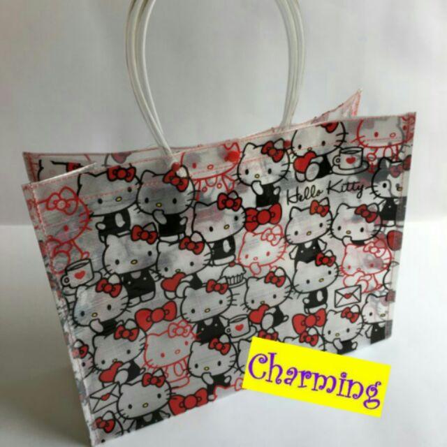 Sanrio 三麗鷗kitty 凱蒂貓melidy 美樂蒂蛋黃哥雙子星隨身防水手提袋泳衣袋