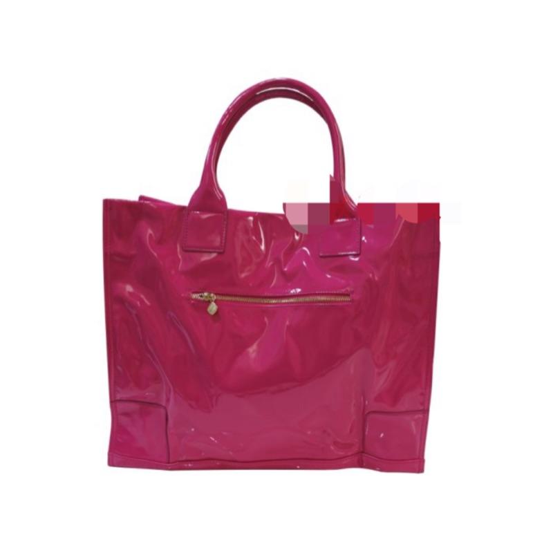 LANCOME 蘭蔻璨桃紅手提包手提袋黑與桃紅兩款尺寸:41 33 9cm