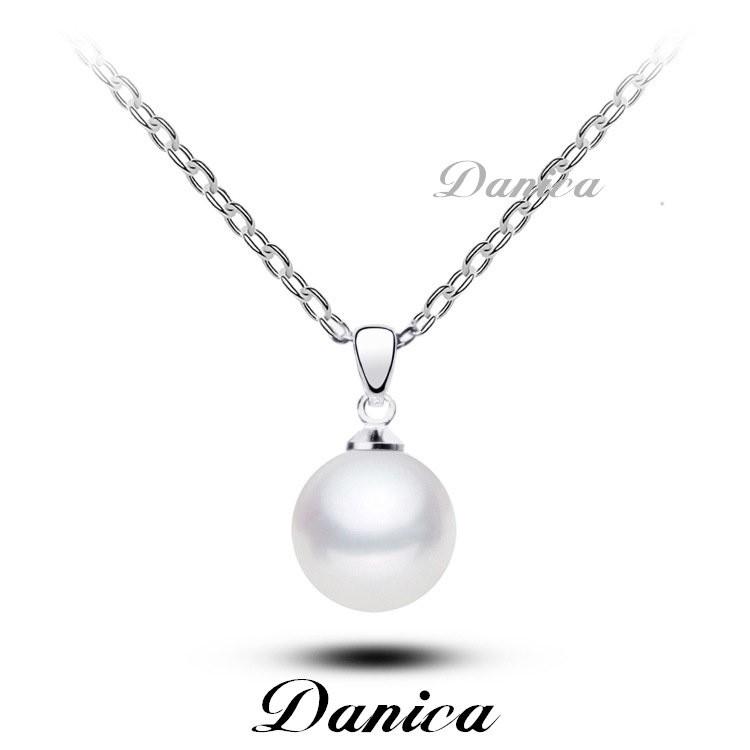 ❤項鍊❤韓國氣質甜美簡約銀色珍珠項鍊鎖骨鍊K2231  價Danica 韓系飾品韓國連線