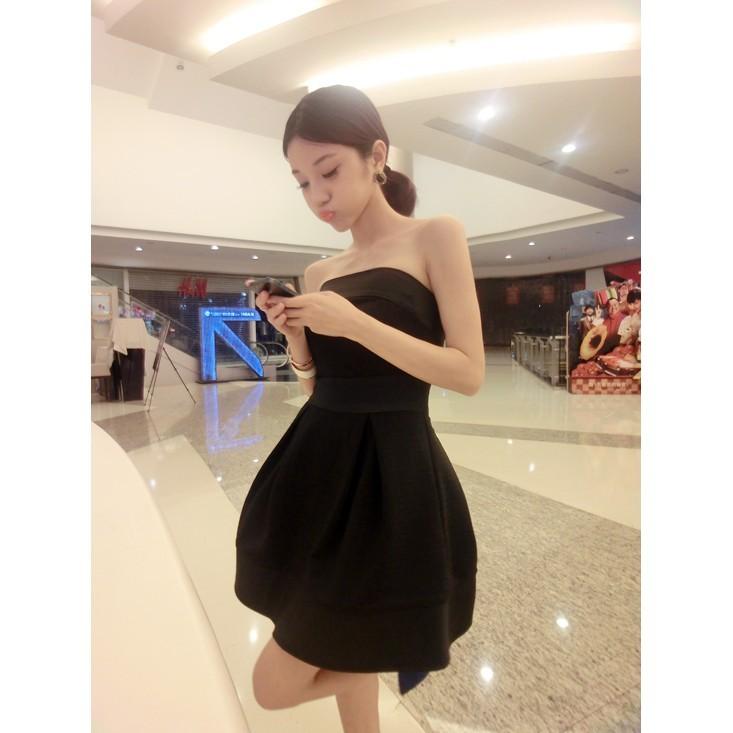 ~尤路路~~YY9187 ~ 平口連身裙氣質甜美高腰蓬蓬裙連身裙洋裝夜店性感可愛OL 禮服