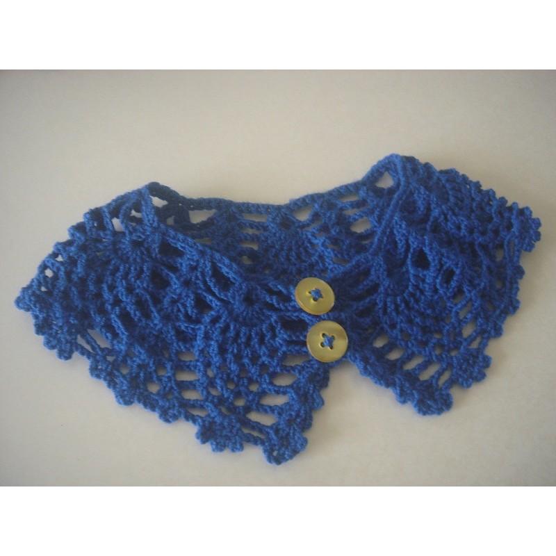 完全手作編織貓咪狗狗寵物蕾絲款項圈領圍小衣服專屬客製雙釦 大尺寸30 公分
