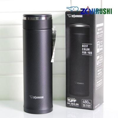 象印480ml 可分解杯蓋不鏽鋼真空保溫杯保冷杯保溫瓶 貨SM JD48 SMJD48 黑