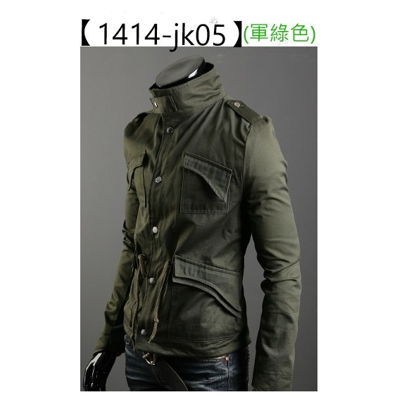 正品 加棉款男裝軍旅風厚款夾克男 修身外套德國休閒軍裝潮流