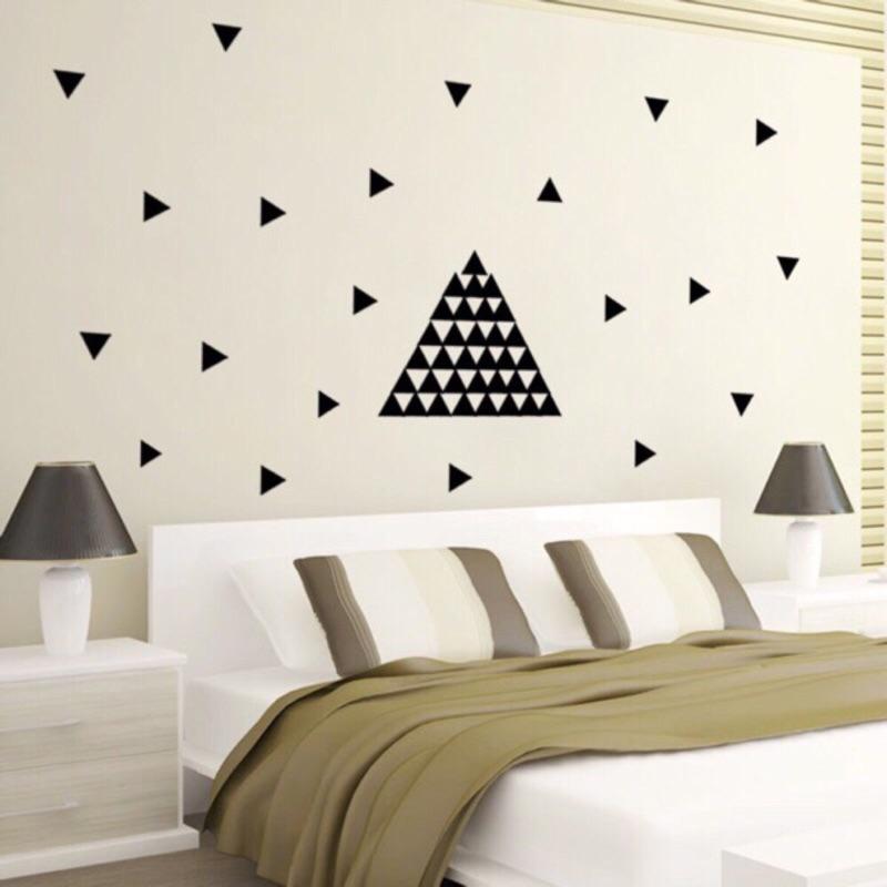 北歐風牆貼黑色三角幾何金色愛心圓點冰淇淋仙人掌大小星星