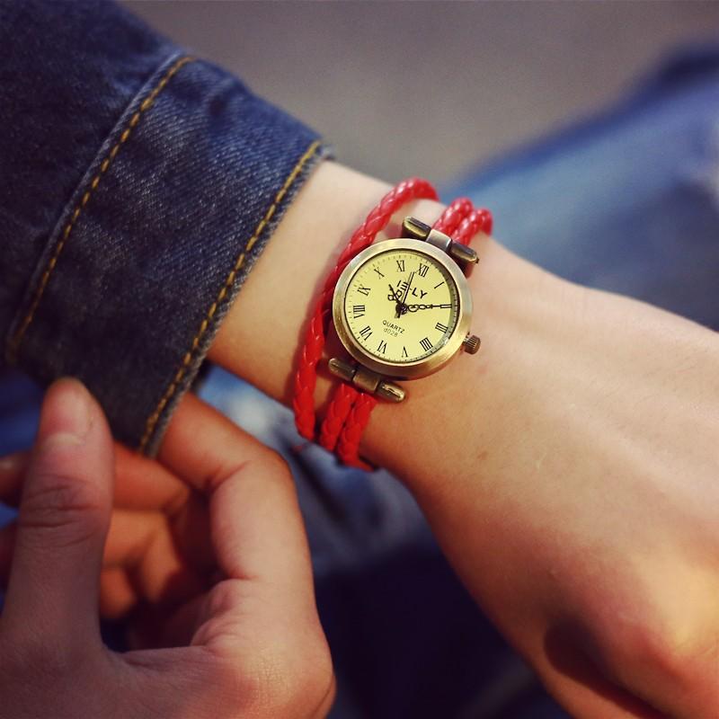 七十二變 屋韓國 復古手表女學生 簡約時裝手鐲手鏈表學生 復古表