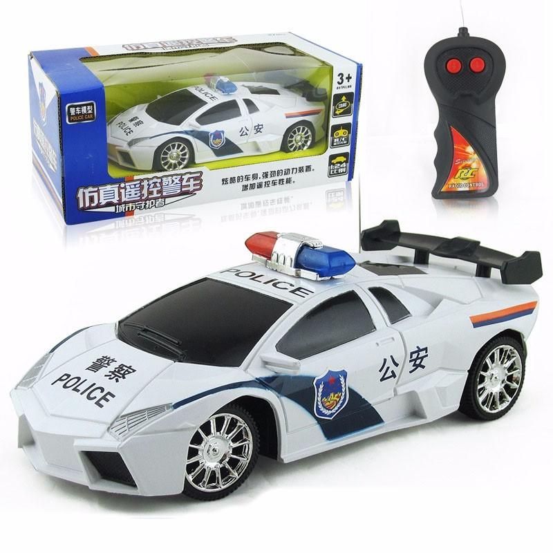 車模型兒童電動遙控車仿真警車二通遙控汽車玩具