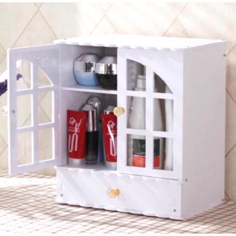 暢銷 日韓粉紅小櫥櫃化妝品收納多 收納收納櫃收納箱浴室廚房客廳玄關書桌