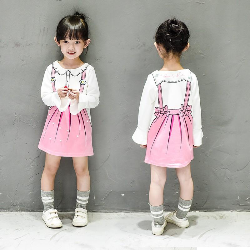 2016 女童公主風蝴蝶袖珍珠氣質連身裙連衣裙小洋裝 加