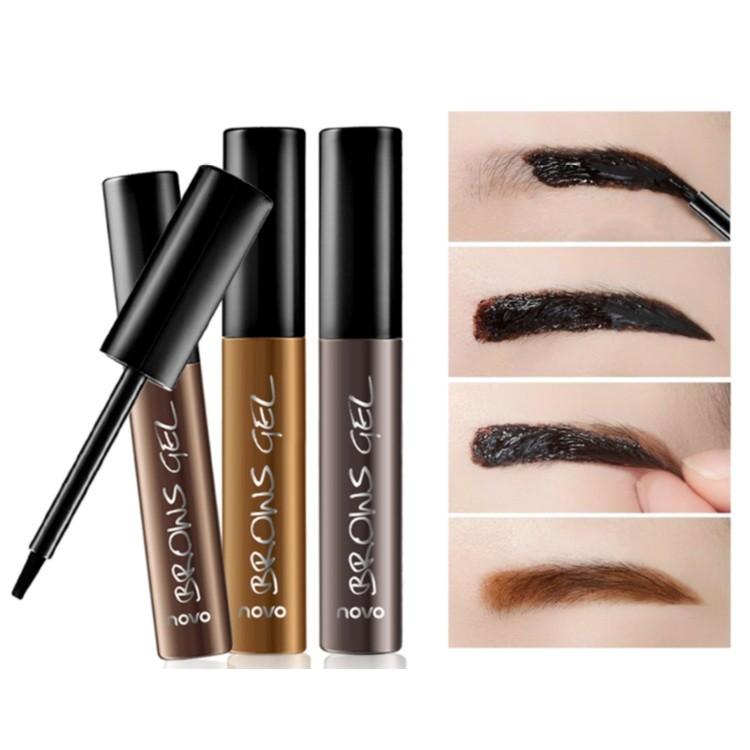 撕拉型染眉膠染眉膏防水持久染色不暈染半永久定型紋眉膠