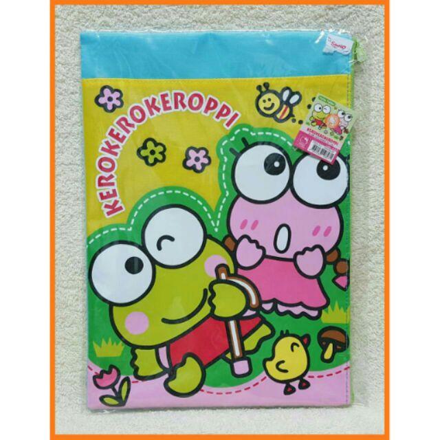 香港Sanrio Keroppi 大眼蛙三麗鷗文件袋收納袋