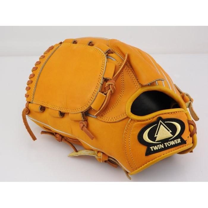 雙塔棒球 館雙塔TWIN TOWER X3 高校野球硬式棒壘球手套投手單片原皮黃12 吋反