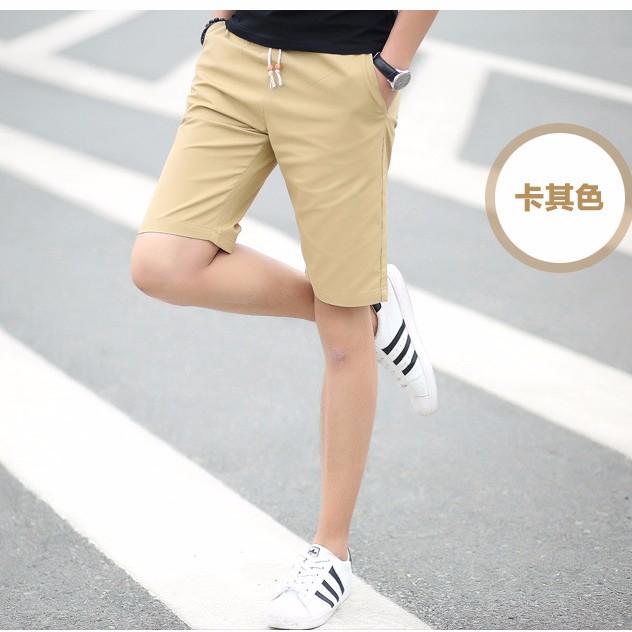 男士沙灘短褲棉質大碼5 分褲休閒修身男生短褲薄款中褲五分褲 實拍