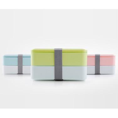 可愛飯盒Livable 雙層層學生便當盒微波爐多層兒童日式雙層餐盒