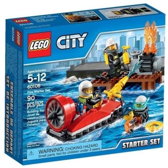 玩具之箱LEGO 樂高積木60106 CITY 系列消防入門套裝 未拆