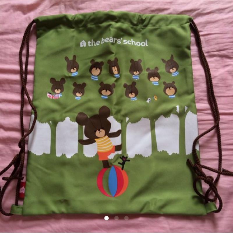 小熊學校束口袋後背包