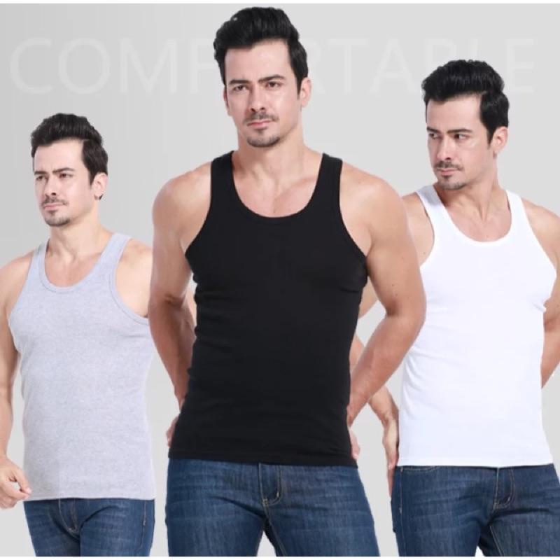 男士背心純色棉質修身型背心緊身 健身無袖打底汗背心男 潮