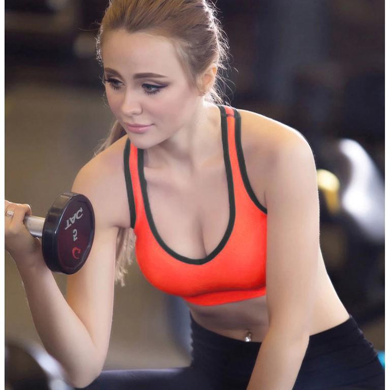 Anself 女裝 型內衣短款背心舒適彈性無鋼圈罩杯可拆胸墊工字後背鏤空  女款健身房 內