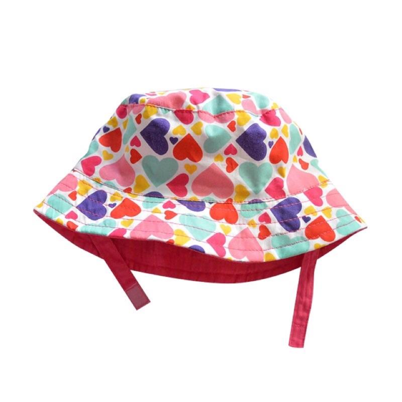 全棉彩色愛心印花兒童遮陽帽兒童帽子兒童漁夫帽