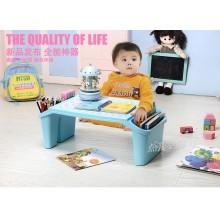 限宅配韓國兒童寶寶輕便零食玩具收納桌ˋ遊戲桌ˋ書桌ZZ502  颜色分类天藍色