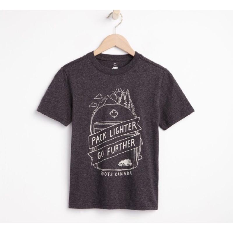 4 14 歲男 正品Roots 露營系列背包字母海貍短袖T 恤純棉中大童XS XXL