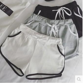 短褲鬆緊腰系帶 熱褲跑步褲k04 40610 aj 2