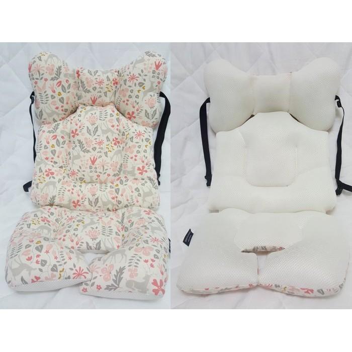 ~韓國Borny ~純棉‧一體成型兩用推車汽座坐墊枕_S 號初生兒枕頭0 6M 嬰兒塑形枕