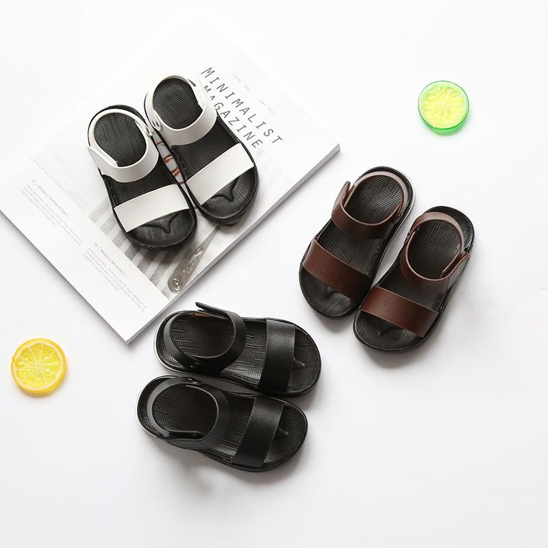 2017  兒童涼鞋防滑防水休閒童鞋中小童英倫風格沙灘涼鞋